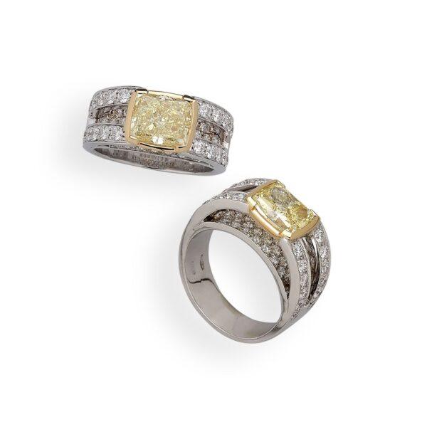 anelli diamantati