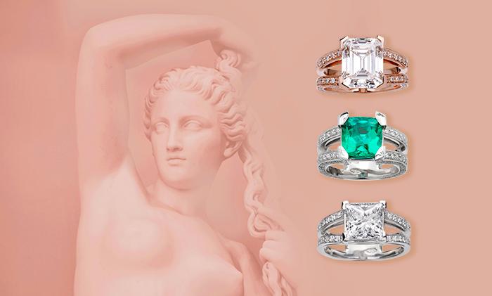 Tutta la bellezza di Afrodite nei nostri preziosi anelli