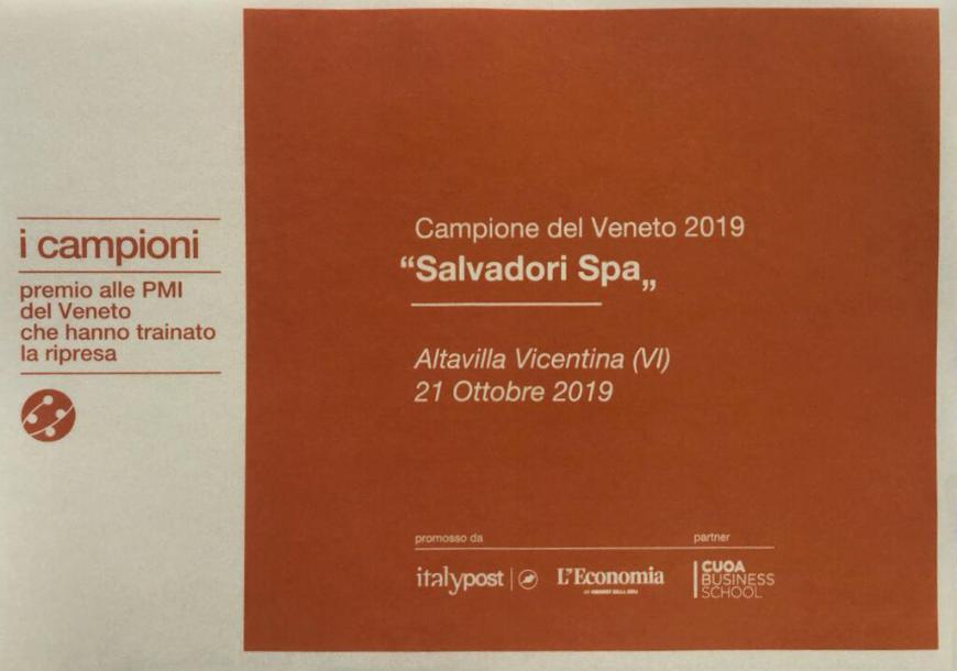"Salvadori Spa ""Campione del Veneto 2019"""